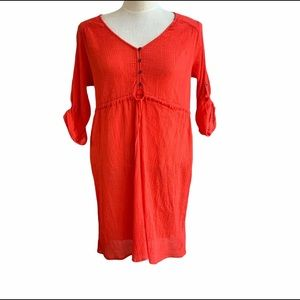 A Pea in the Pod coral cotton gauze dress